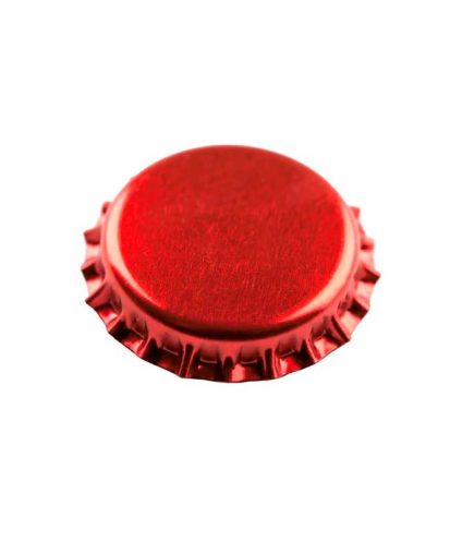 Ølkorker. 100 stk rød transparent 26mm