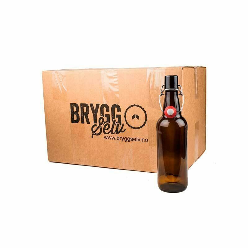 0,5l flasker med patentkork. 24 stk i esken