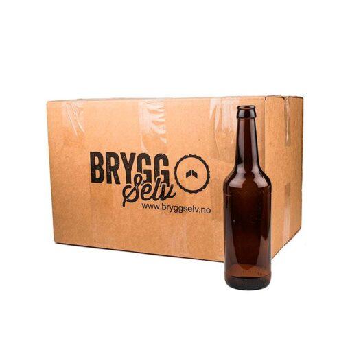 0,5l ølflasker. 24 stk i esken Fredrikstad