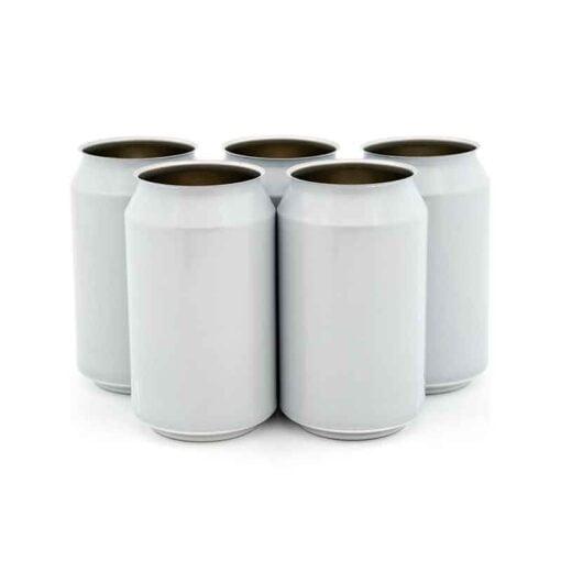 330 ml hvite ølbokser i solid eske