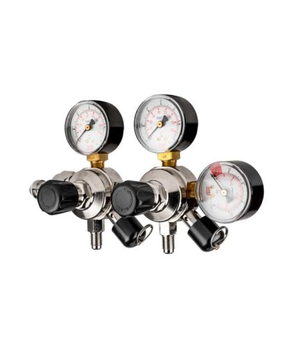 CO2 regulator, Med. 2 utganger
