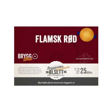 Flamsk rød ølsett til ølbrygging