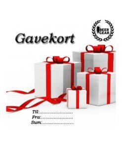 Gavekort tekst