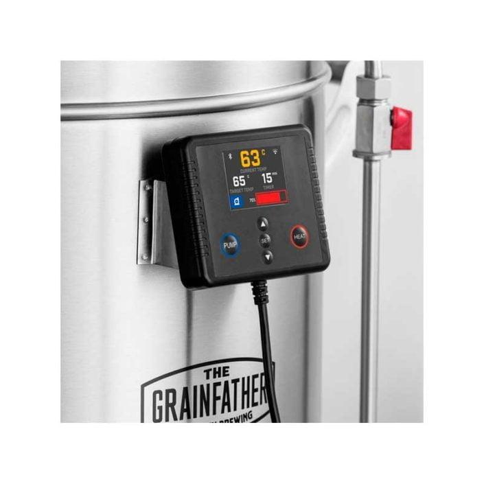 Grainfather G7 kontroller på maskinen