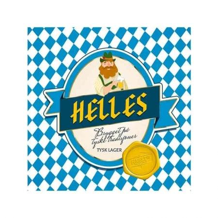 Helles Allgrain ølsett. Tysk lager