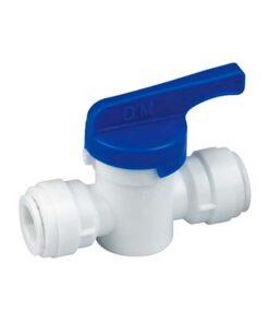 Hurtikobling med ventil / kran