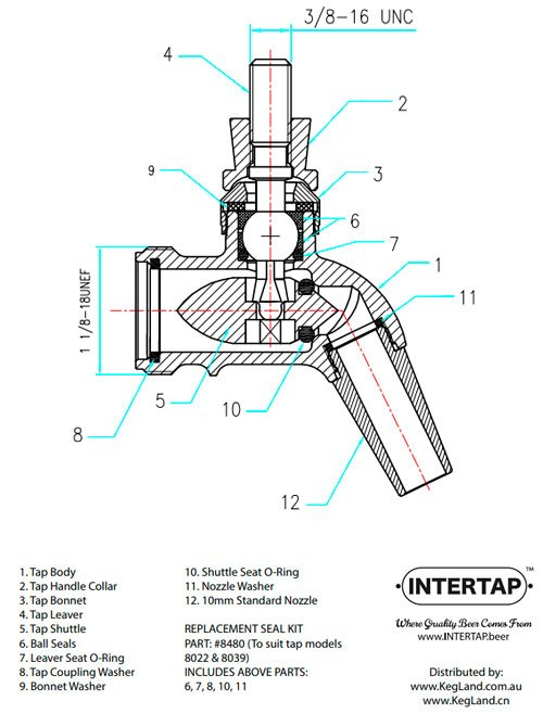 Intertap Seal Kit for SS tappekran