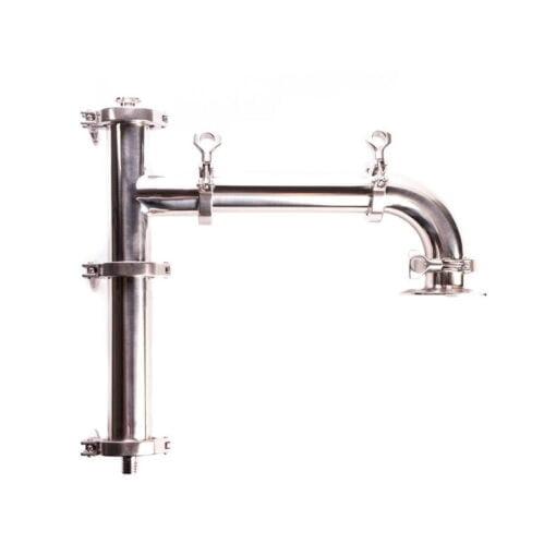 Kondensator for damp til avtrekkshatt forhindrer damp