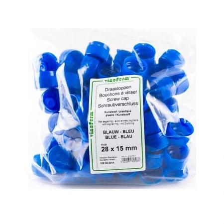 Blå Korker til Pet flasker. 100 stk