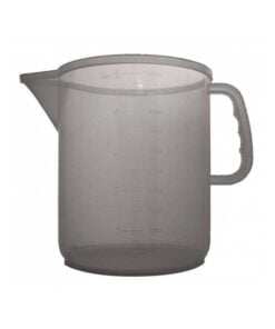 Litermål i plast. 5 liter. Praktisk under brygging