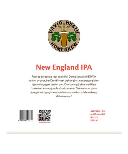 New England IPA allgrain ølsett fra David Heath