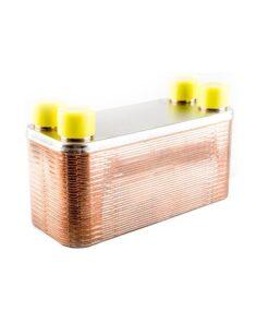Platekjøler i rustfritt stål. 36 plater