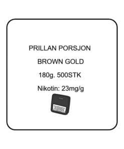 Prillan Porsjonssnus brown gold. Lag snus selv