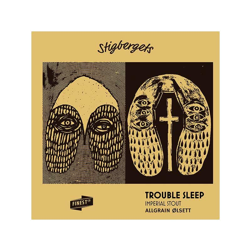 Stigbergets Trouble Sleep er en Imperial stout.