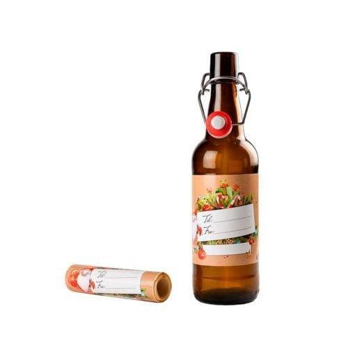 Til Fra etiketter til flasker og bokser