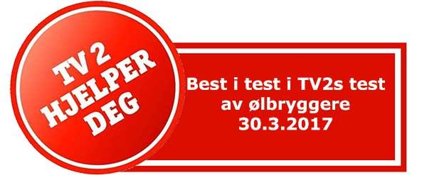 Ølbrygger Best i test TV2