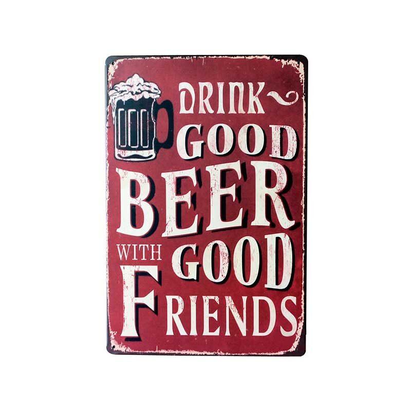 Ølskilt. Drink good beer